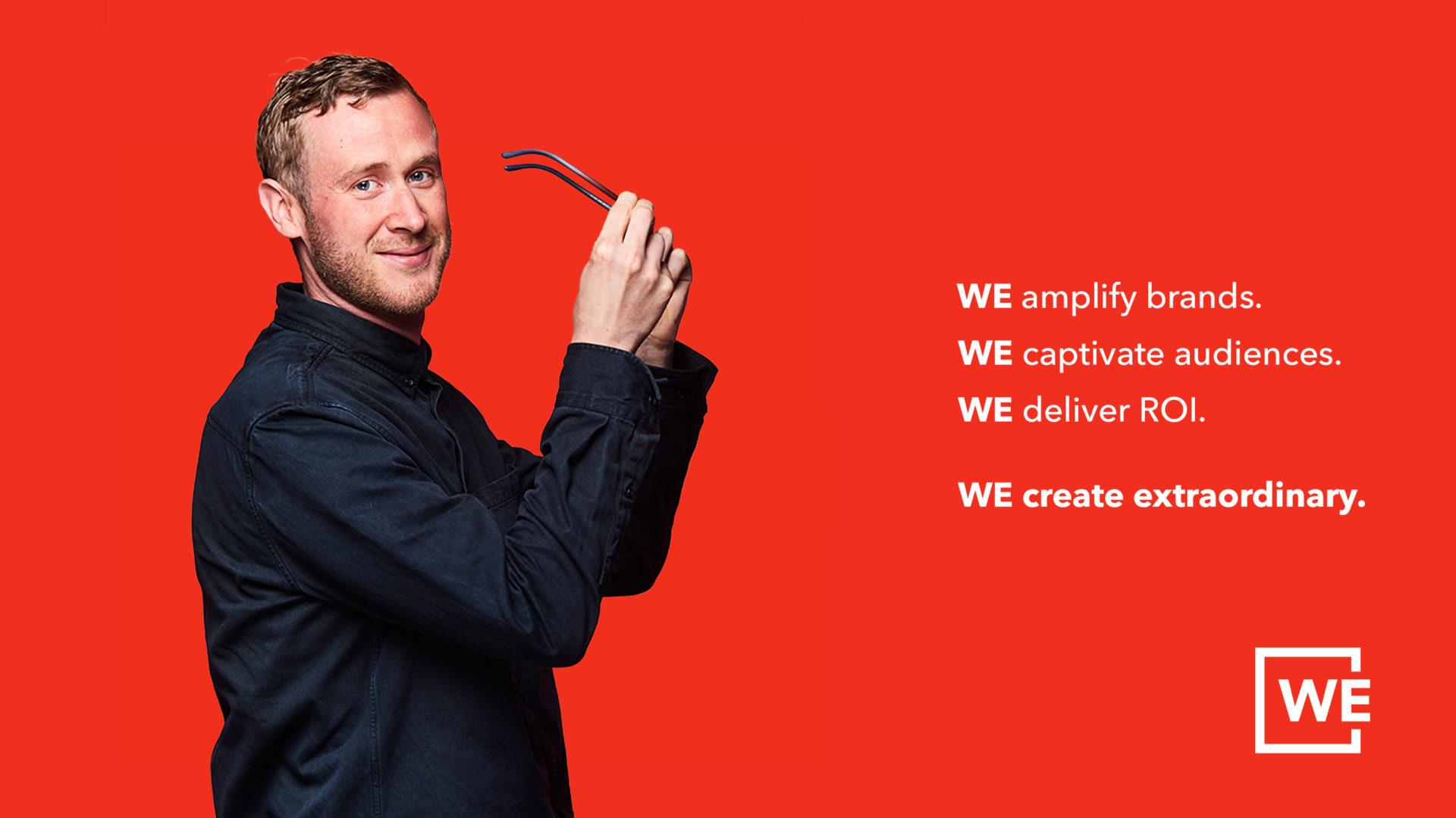 WE amplify brands