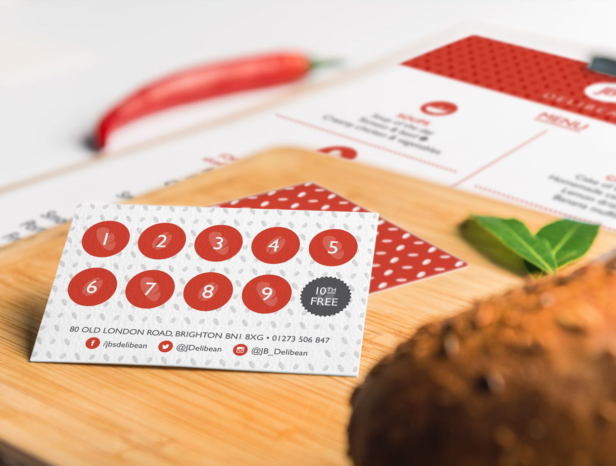 JB's Delibean Loyalty Card Design