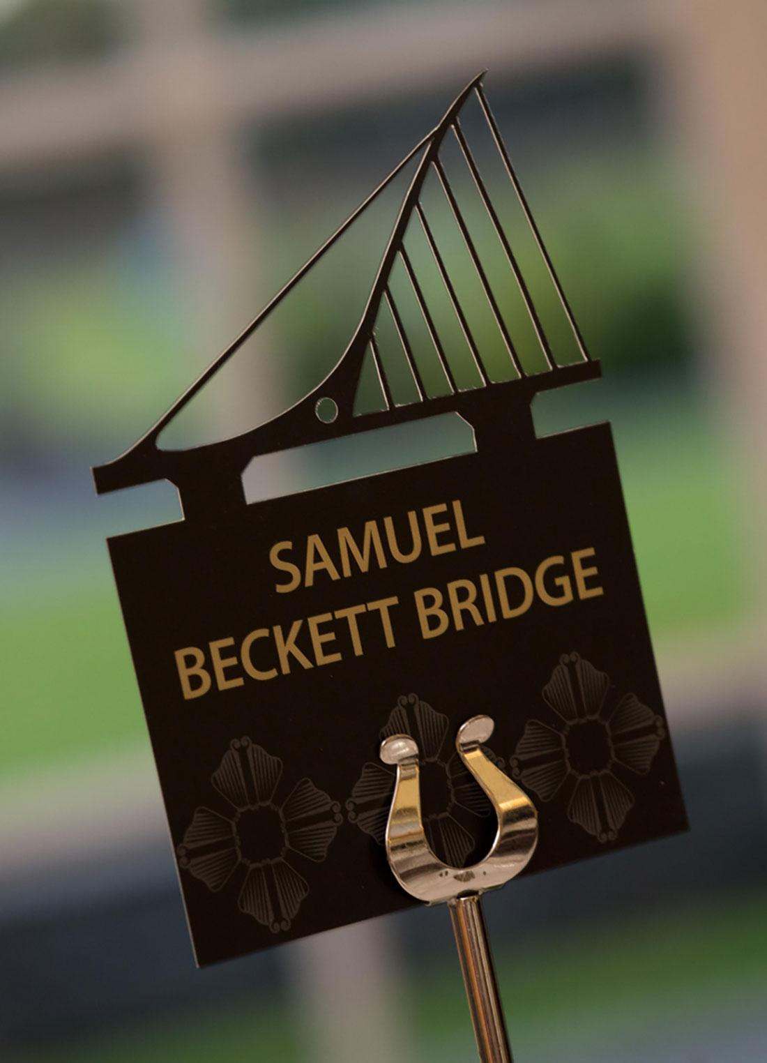 Diageo President's Club Table Name Samuel Beckett Bridge