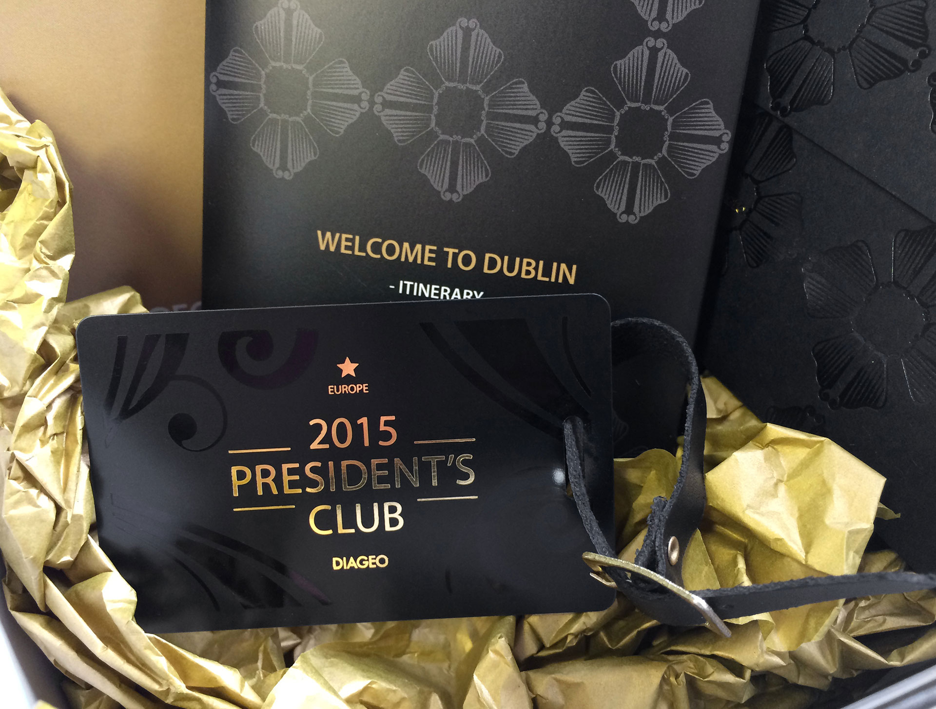 Diageo President's Club Collateral
