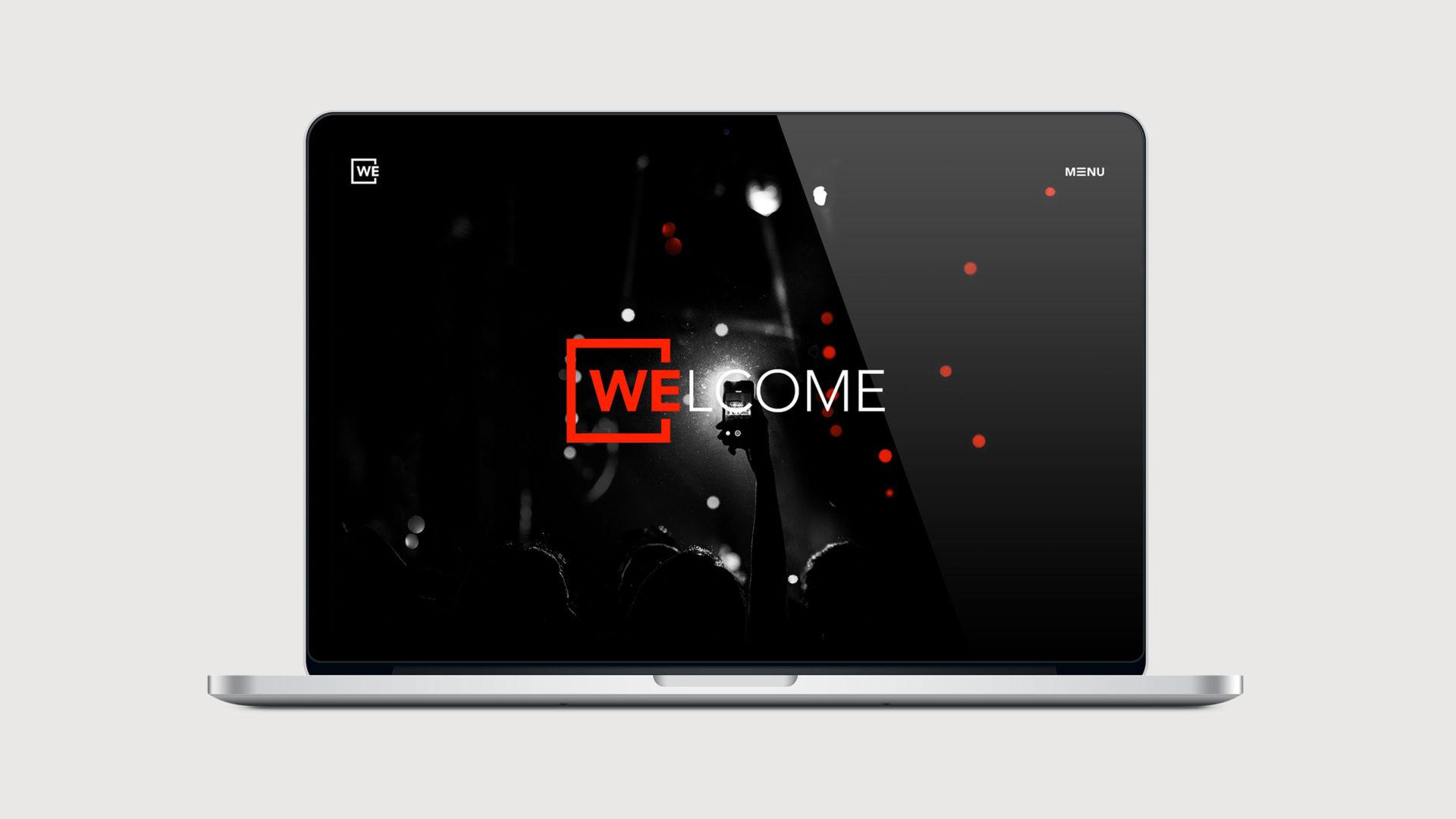 WE Website Desktop
