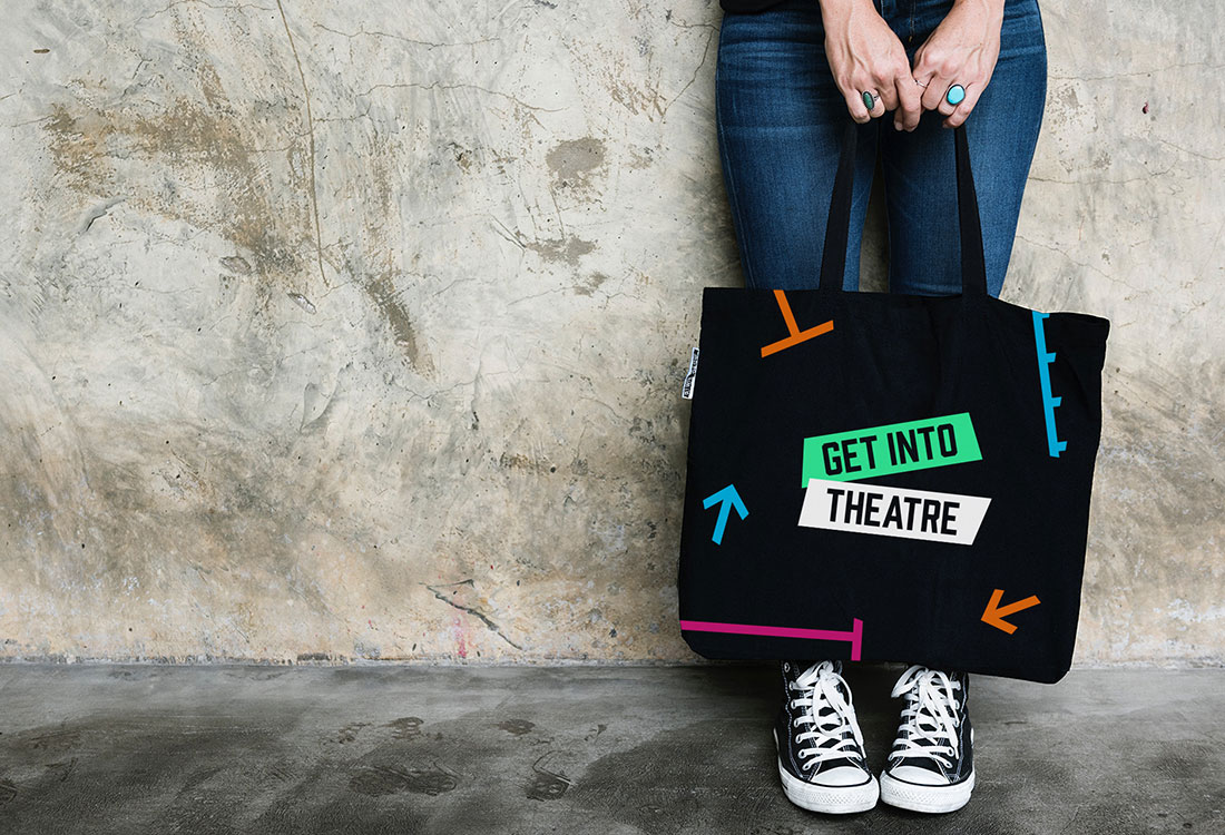 Get Into Theatre Promotional Tote Bag