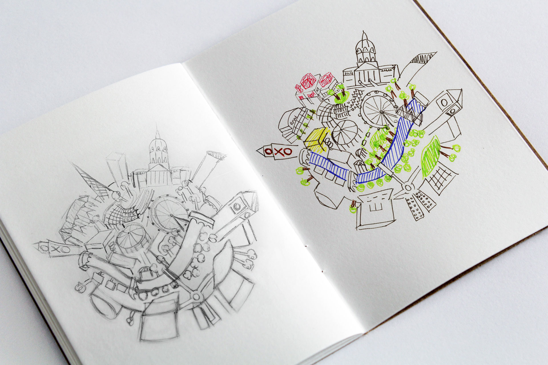 South Bank London Sketchbook