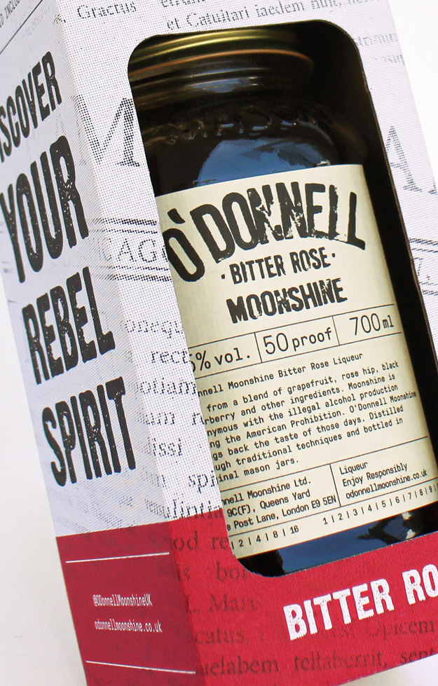 O'Donnell Moonshine Limited Bitter Rose Close