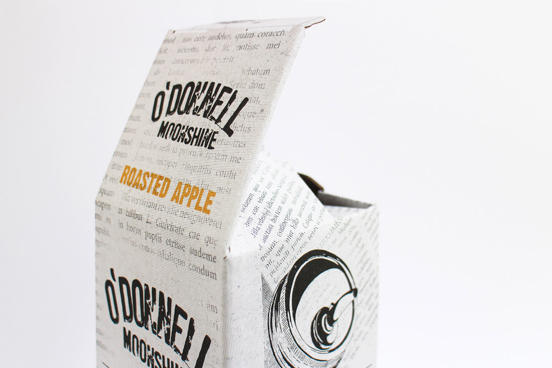 O'Donnell Moonshine Limited Packaging Lid Detail