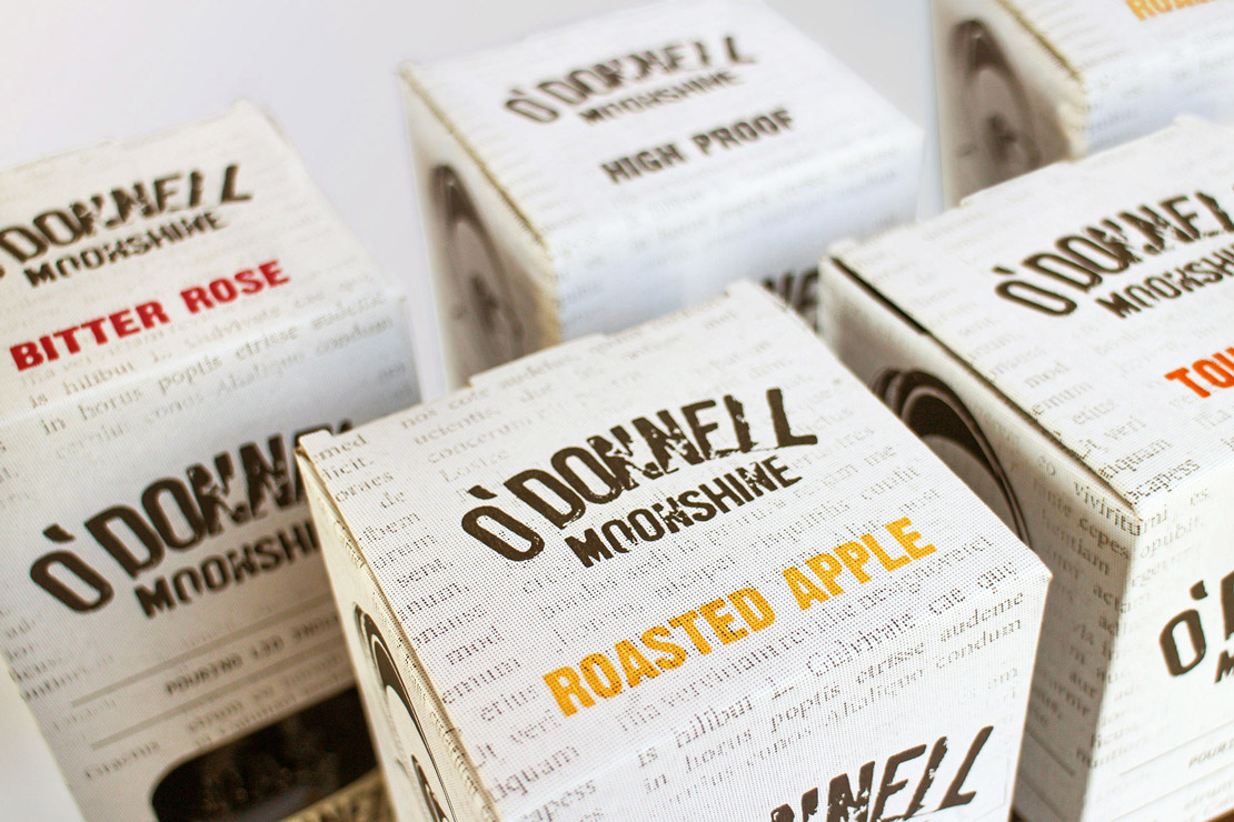O'Donnell Moonshine Limited Packaging Group Shot